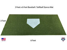 3' x 6' SyntheticTurf Baseball Softball Batting Cage Practice Hitting Rug Mat