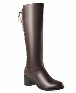 Ann Creek 'Allende' Back Lace Up Knee-High Riding Boot