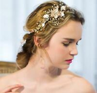 Beaded Hair Halo Diamante Blossom Wedding Hair Vine Crystal Bridal Accessories