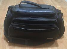 """case logic leather camera/camcorder bag 705329 black with shoulder strap-15"""""""