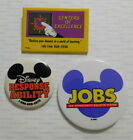 1990s Disney World CAST MEMBER BUTTONS Mickey Centers of Excellence, Jobs, Legal