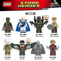 Bausteine Filmcharakter Superheld Stan Lee Vulture Death Modell Spielzeug 8PCS