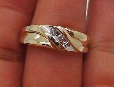 .15 tcw Sz 11.5 Ai-653 7.90 grams Stunning 10K Yg Men'S Diamond Band Ring