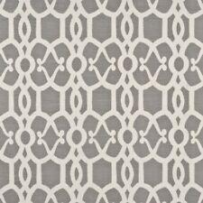 Threads Lee Jofa Linen Trellis Fabric- Zenith Reverse/Dove 0.75 yd (ED75005.1)