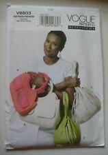 Vogue 8803 Fashion Accessories Purses Handbags Totes Bags Uncut Sewing Pattern