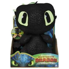 DreamWorks How to Train Your Dragon Squeeze & Growl Toothless 25cm Plush Toy with Sounds - 6046841