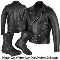 Motorbike Leather Shoes Racing Boot Motorcycle Leather Brando Jacket Winter Sale