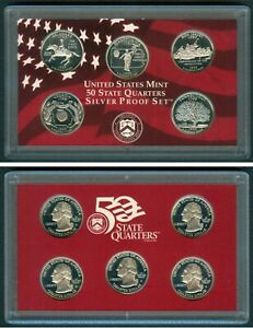 1999 United States Mint SILVER PROOF State Quarter - 5 coin set