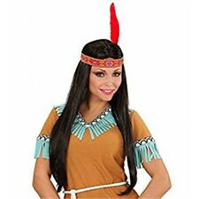 Black Indian Woman Wig With Headband - Deluxe Pocahontas Squaw Inc Accessory