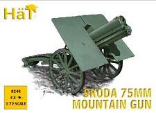 HAT 1/72 WWI Skoda 75mm Mountain 4 Artillery Guns Set 8244 New!