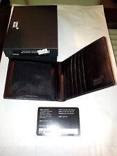 PORTACARTE DI CREDITO CREDIT CARD CARRIER MONTBLANC MONT BLANC BLACK D