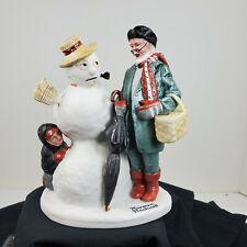 The 12 Norman Rockwell Porcelain Figurines Grandpa Snowman 1980 Danbury Mint