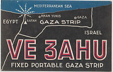 Stamp 60L Italy on ham radio card VE3AHU Palestine sent to Coleraine Australia