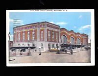 New York Central Station in Rochester NY postcard  1941 Railroad Depot