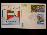 MONACO PREMIER JOUR FDC YVERT  1134/5     RAMOGE - BATEAUX     1+0,80F      1978