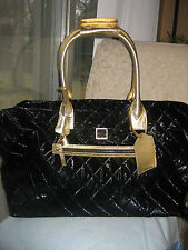 DOONEY & BOURKE duffle,luggage HANDBAG bag black quilted