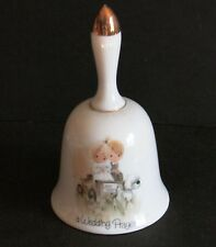 "Enesco Precious Moments Bell 1978 A Wedding Prayer 5.5"" tall Free Sh"
