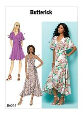 Butterick Sewing Pattern B6554 6554 Misses 14-22 Easy Wrap Dresses in 3 Lengths