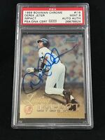 1999 BOWMAN CHROME #I16 DEREK JETER YANKEES AUTOGRAPH CARD SIGNED PSA/DNA MINT 9