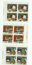 CANADA CHRISTMAS 1985 SANTA CLAUS PARADE PLATE BLOCKS  FV $5.64