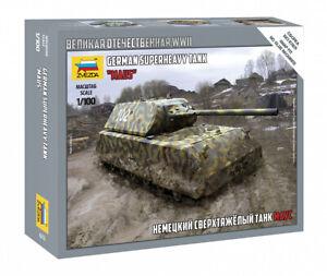 "Zvezda Model Kit 6213 German superheavy tank ""Maus"", scale 1/100"