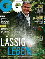 GQ Magazine GERMANY September 2014 George Clooney Jerome Boateng NEW