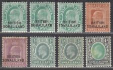 Somaliland Protectorate 1903-11 King Edward VII Selection to 8a Mint