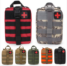Durable First Aid Kit Tactical Survival Molle Rip-Away EMT Pouch Bag Medical BB