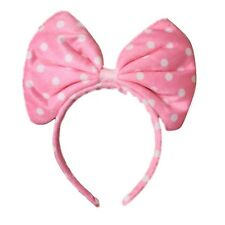 Oversized Soft Fabric Pink Spot Bow Alice Hair Band Headband Fancy Dress Party