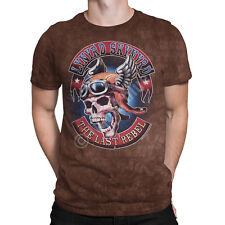 Liquid Blue -  SOUTH OF HEAVEN -  Lynyrd Skynyrd - Short Sleeve Tie-Dyed T-Shirt