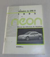 Manuel De Référence De I'Étudiant Chrysler Utilisation Vous Drb III Édition 1995