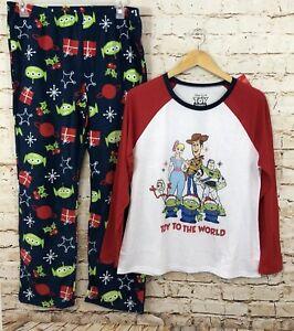 NEW Womens Toy Story 4 Disney movie 3 Piece Pajama set Pajamas S M L XL 2XL 3XL