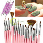 20 PCS Acrylic Nail ART BRUSHES Kit Painting Dotting Pen Set Design Drawing