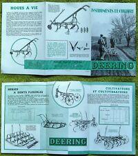 """RARE,DEERING,1931,"""" INSTRUMENTS DE CULTURE """",MACHINES AGRICOLES,CULTIVATEUR,HERS"""
