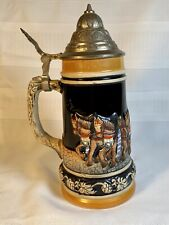 Vintage German Lidded Beer Stein
