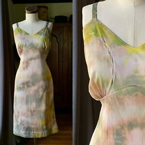 DYED PETALS Vintage Botanically Hand Dyed Tie Dyed Slip Dress 46