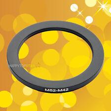 M52mm to M42mm M52-0.75mm M42-1mm Male to Female Step-Down Lens Ring Adapter