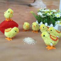 Kids Clockwork Chicken Wind Up Hopping Toy Chick Stocking Filler Animal Toys