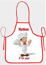 tablier de cuisine garçon p'tit chef personnalisable avec prénom réf 33