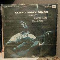 "ALAN LOMAX Sings Great American Ballads (CLP-1192) - 12"" Vinyl Record LP - EX"