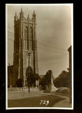 Somerset EVERCREECH Church Judges Proof Photo RP PPC plain back