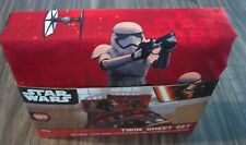 STAR WARS KYLO REN REY FINN  TWIN SIZE SHEET SET w/ PILLOW CASE BRAND NEW