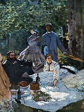 CLAUDE MONET BREAKFAST OUTDOORS CENTRAL SECTION OLD ART PAINTING PRINT 623OMA