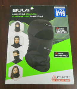 Bula Primaloft Convertible Balaclava Face Mask -Black- Size L/XL New Opened Box