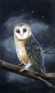 LED Light Up Owl  - Lighted Canvas Picture Art Home Office Decor
