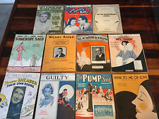 Lot of 11 Different Pieces Sheet Music Weary River Somebody Said My Girl, Guilty