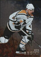 1998-99 Be A Player Autographs Penguins Hockey Card #265 Rob Brown