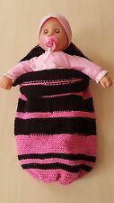 Baby Schlupfsack pink- schwarz
