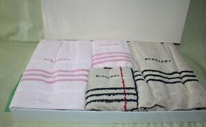 Burberry London Towel Set Mitsukoshi Japan 2 Pink 2 Brown BB8590 24x50 13.5 x 28