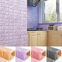 3D Self Adhesive Foam Wall Paper Mosaic Tile Vinyl Brick Sticker Film Waterproof